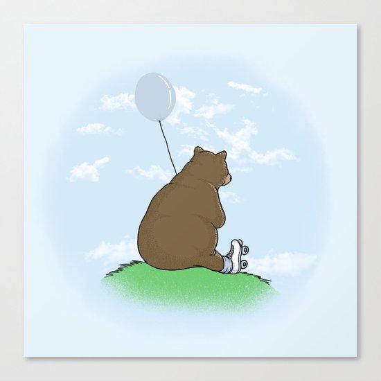 Cloudy the Bear Canvas Print