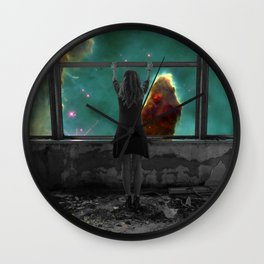 Window to Another World Wall Clock