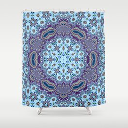 Modern Traditional Lacey Mandala Shower Curtain
