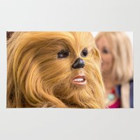 chewbacca Area & Throw Rugs featuring Chewbacca in Love by Hoboxia