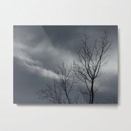 Passing Storm Tree Metal Print