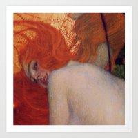 Gustav Klimt, Goldfish, (detail) 1901-1902 Art Print