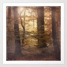 Autumn Came, With Wind & Gold. Art Print
