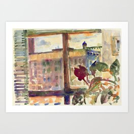 View over Broadway, NYC Art Print