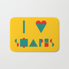 I heart Shapes Bath Mat