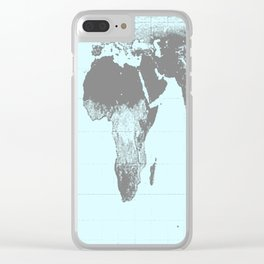 World Map : Gall Peters Aqua Clear iPhone Case