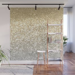 Gold and Silver Glitter Ombre Wall Mural
