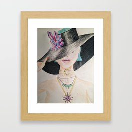 SLAY WITCH   Orginal drawing by Natalie Burnett Art Framed Art Print