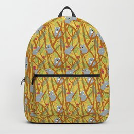 Koala bear patter yellow Backpack