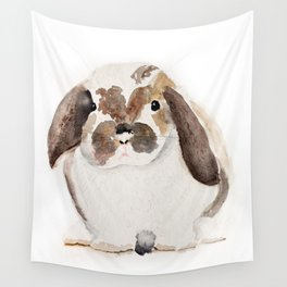 Bunny Watercolor (Flop Eared Bunny) Wall Tapestry