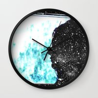 fault Wall Clocks featuring The Fault in Our Stars by CATHERINE DONOHUE