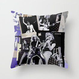 Pretenders collage Throw Pillow