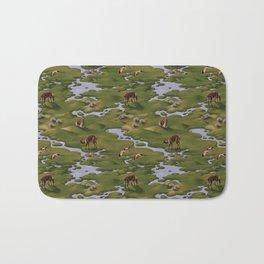 Vicuñas and Flamingoes Bath Mat