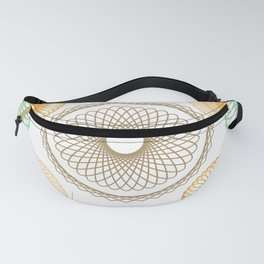 Girly Geometric Circular Abstract Pattern Fanny Pack