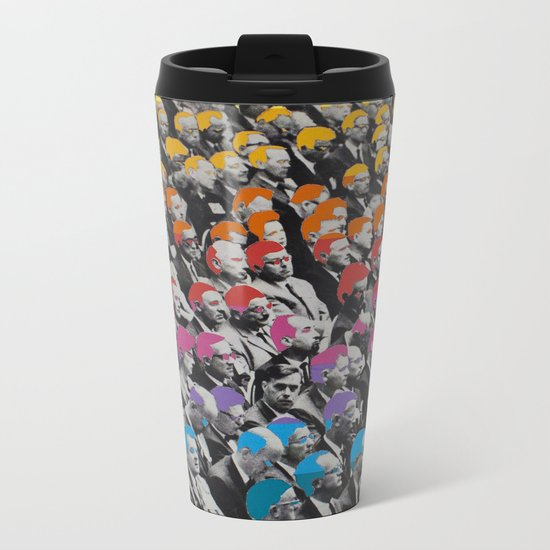Heads Metal Travel Mug