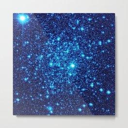 Vivid Blue gALaxY Stars Metal Print
