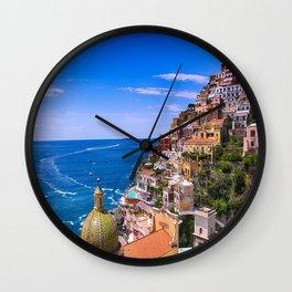 Love Of Positano Italy Wall Clock