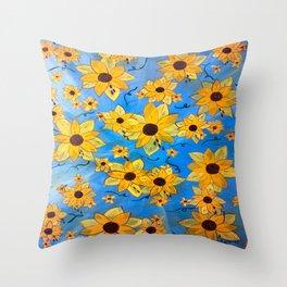 seeds sown Throw Pillow