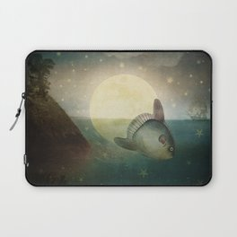 The Fish That Stole The Moon Laptop Sleeve