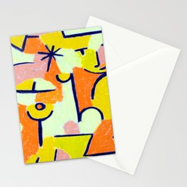 Paul Klee Figure in Yellow Stationery Cards