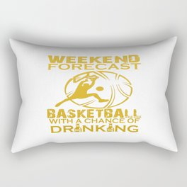 WEEKEND FORECAST BASKETBALL Rectangular Pillow