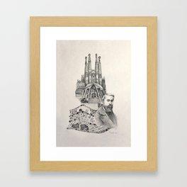 Tribute to Gaudi Framed Art Print