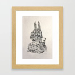 Tribute to Gaudi Framed Art Print