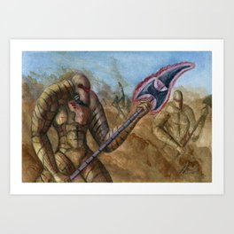 Devils In The Dust Art Print