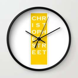 Christopher Street - NYC - Yellow Wall Clock