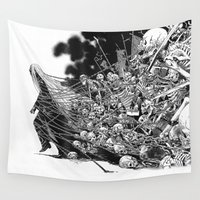 scary Wall Tapestries featuring Scary Soul by bimorecreative