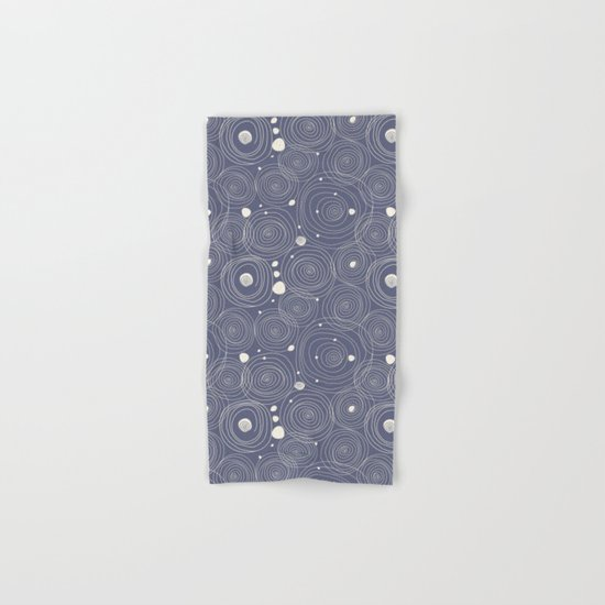 Blue Scribbles Pattern 08 Hand & Bath Towel