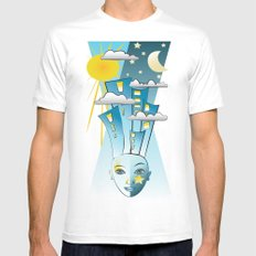 Night And Day Mens Fitted Tee White MEDIUM