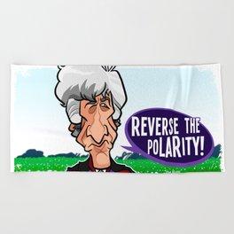 Reverse the Polarity Beach Towel