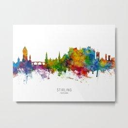 Stirling Scotland Skyline Metal Print