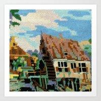 Found Tapestry Mill Art Print