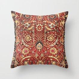 Sickle-Leaf 17th Century Antique Persian Carpet Print Throw Pillow