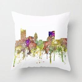 Fort Wayne, Indiana Skyline Throw Pillow