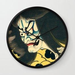 Kabuki Raijin Wall Clock