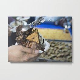 Chocolate Chip Cookie and Brownie Sundae Metal Print