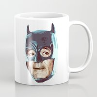 superheros Mugs featuring The Bat by BzPortraits