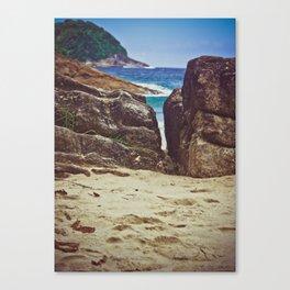 caixadaço beach, trinidade, brazil Canvas Print