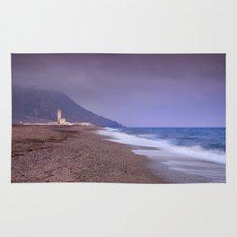 Salinas Beach At Sunset. Rug