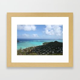 LANIKAI VIEW PART 2 Framed Art Print