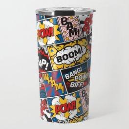 Modern Comic Book Superhero Pattern Color Colour Cartoon Lichtenstein Pop Art Travel Mug
