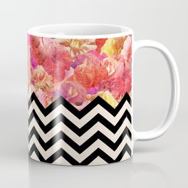 Chevron Flora Coffee Mug