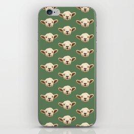 Sweet Lamb in the Barnyard iPhone Skin