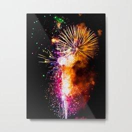 Fireworks Display Addison Texas Kaboom Town 2017 Metal Print