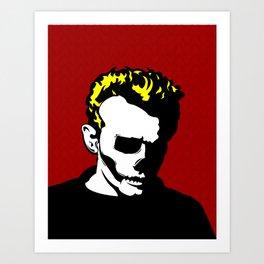 Dean Dead Skull Art Print