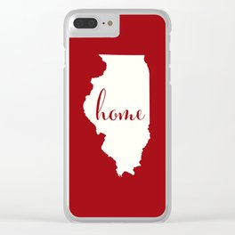 Illinois is Home - Red on White Clear iPhone Case