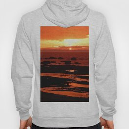 Sunset behind the Circle of Rocks Hoody